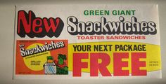 1971 Green Giant Snackwiches.  These were fantastic. Heck with toaster strudels