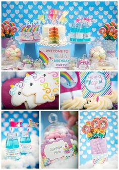 unicorns party dessert tablescapes | October 22, 2014 · Leave a Comment