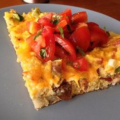 Potato and Pepper Frittata...   Hot and sweet peppers add a colorful and spicy kick to thisbreakfast pie.  Allrecipes.com