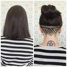 Undercut Tattoos, Hair Tattoos, Shaved Nape, Shaved Head, Undercut Designs, My Girl, Instagram Posts, Image, Women