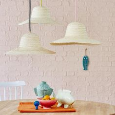 ▷ Selber machen: schöne Lampen   LIVING AT HOME Baby Zimmer, Diy And Crafts, Recycling, Ceiling Lights, Lighting, Pendant, Home Decor, Handbuch, Lamps