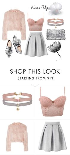 """""""lace-up"""" by kaja-232 ❤ liked on Polyvore featuring Miss Selfridge, Forever 21, RED Valentino, Loeffler Randall, STELLA McCARTNEY, going, Pink, out, lace and Sexy"""
