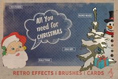 Retro Christmas EFFECTS & BRUSHES PS by Alexiva on @creativemarket