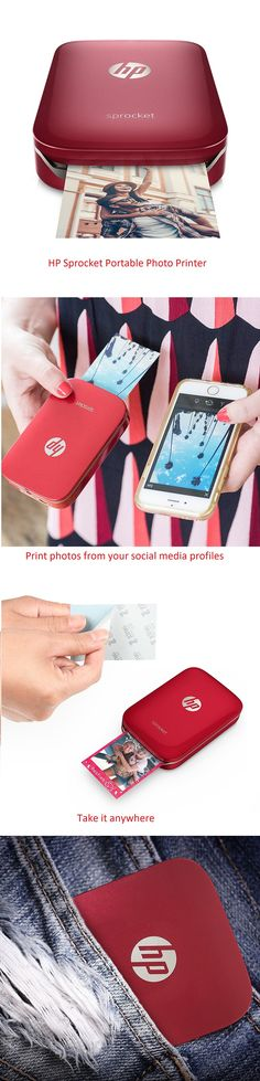 HP Sprocket Portable Photo Printer Red – Latest Gadgets