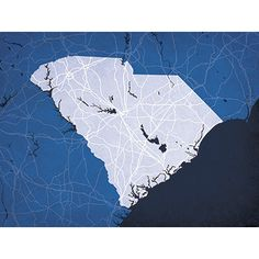 South Carolina - City Prints Map Art