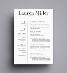 Fresh Cleanly Designed Resume Template By Resume Foundry Modern