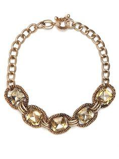 champagne jeweled bib necklaces | Champagne Crystal Bib | Jewelry