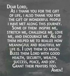 Thank you Dear Lord.