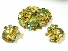 Vintage Regency Jewels Brooch Earrings Set by EclecticVintager, $118.00 #EcoChic #vintage #jewelry #Fashion #etsyretwt