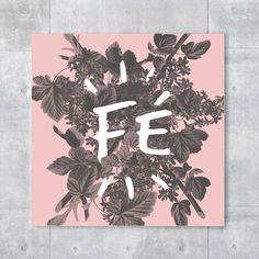 Placa decorativa - Fé Rose - Decohouse