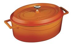 Lava Signature Enameled Cast-Iron Oval Dutch Oven - 5 Quart, Orange Spice * See this great product.