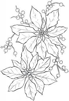 Poinsettia Line Art – Christmas (Nov 13, 2013)