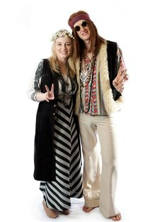 Travel back to 1969 in these hippie Woodstock costumes! Great for a or retro theme party. Costumes priced together or individually. Woodstock Costume, New Fashion, Trendy Fashion, Fashion Design Books, Cool Costumes, 70s Costume, Costume Ideas, Halloween Costumes, Hippie Party