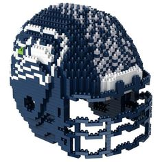 Seattle Seahawks NFL 3D BRXLZ Puzzle Helmet Set (SHIPS IN NOVEMBER)