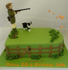 Clay Pigeon shooting themed Birthday cake