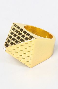 The Pyramid Ring in Gold Men's Jewelry, Jewelery, Swag Swag, Gold Everything, Men Rings, Hip Hop Outfits, My Precious, Health Diet, Dapper