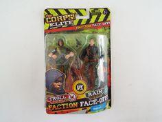 The Corps Elite vs The Curse Troll vs Rain Action Figure Set NIB Lanyard Toys