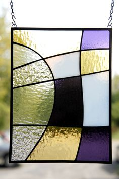 Simple stained glass sun catcher. I would make my own wooden frame though, I…