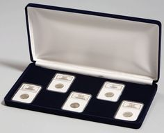 GREAT GIFT BOX Leatherette Display Box For 3 Certified Coin Slabs FREE SHIP!