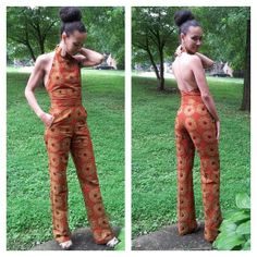 African Pant Romper  African Fashion African Fabric
