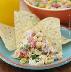 Mexicorn Dip aka Creamy Cowboy Caviar -- a party favorite that takes less than 15 minutes to make! Can even be made a day ahead. Serve with tortilla chips or Fritos 'Scoops' corn chips.