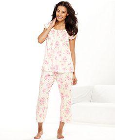 Charter Club Pajamas, Mothers Day Knit Top and Capri Pajama Pants - Womens Lingerie - Macys