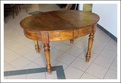 Tavolo Castagno Ovale allungabile ! !1860 Tavolino Luigi Filippo Rustico area Umbra - Toscana