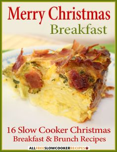 Our latest, free eCookbook, Merry Christmas Breakfast: 16 Slow Cooker Christmas Breakfast and Brunch Recipes, is filled with Christmas breakfast recipes for an easy, merry morning.