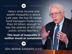 Bernie Sanders and income inequality
