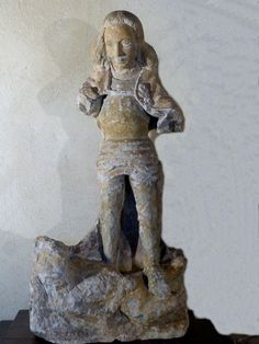 Antique for sale Gothic statue Saint George and the dragon Middle Ages sculpture Statue Sculpture Fine arts architecture