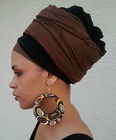 Mudcloth design hoop earrings by AtabeyHandCreations on Etsy, $25.00