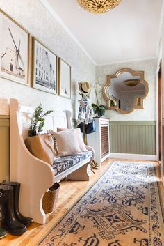 Smart Small Space Ideas from a Narrow Mudroom Makeover   Apartment Therapy