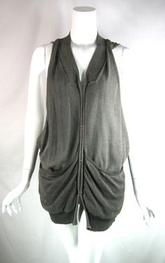 SITA MURT Gray Zip Sleeveless Sweater Vest Size 40 #SitaMurt #Vest