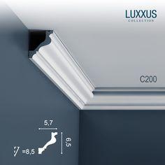 Cornici Soffitto e Parete stucco decorativo Cornicione Orac Decor C200 LUXXUS