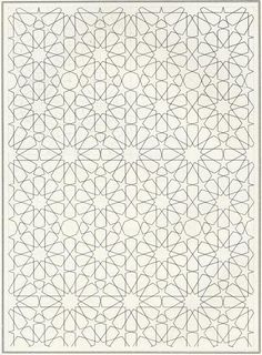 Pattern in Islamic Art - BOU 126 moorish arabesque moroccan muslim geometric tile design #islamicart