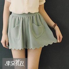 Buy 'Tokyo Fashion – Scalloped-Hem Heart-Pocket Culottes' with Free International Shipping at YesStyle.com. Browse and shop for thousands of Asian fashion items from Taiwan and more!