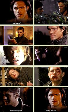 """s5 w/ lines from 5x10 [GIFSET] #Brothers - """"Last words?'  """"I think I'm good."""""""