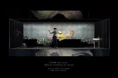 Suite L'ECUME DES JOURS, Rêverie Virtuelle et sonore Mise en scène : Julie DESMET  Image/Scénographie : Alain LAGARDE Avec Axel BEAUMONT