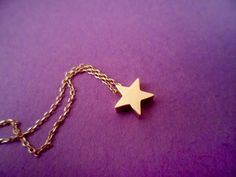 Simple, Beautiful, Shooting Star, Gold, Necklace | simplecrystal - Jewelry on ArtFire