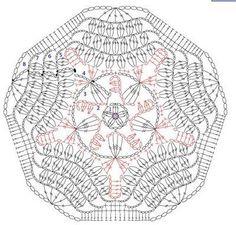 Different type of Hexagon Filet Crochet, Mandala Au Crochet, Crochet Bolero, Crochet Motif Patterns, Crochet Blocks, Crochet Diagram, Crochet Round, Crochet Chart, Crochet Squares
