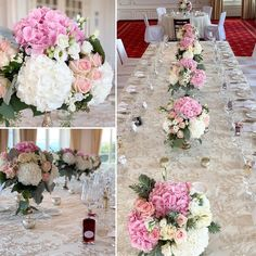 "Stationery & Floral Design on Instagram: ""Wedding floral arrangement and table linen in Luzern by @gncluxuryinvitations. Romantic colors. Pink and white hydrangeas and roses with…"" White Hydrangeas, Instagram Wedding, Table Linens, Floral Wedding, Floral Arrangements, Floral Design, Stationery, Roses, Romantic"