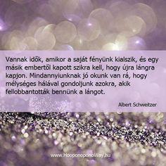 Albert Schweitzer bölcsessége a lelkesítésről. A kép forrása: Ho'oponoponoway Magyarország