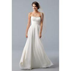 Simple Beach Wedding Dresses | Elegant Simple Chiffon Beach Wedding Dresses 2013 Custom Made h3jwb113