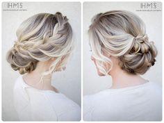 #low #messy #bun #braid #hairstyle