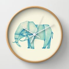 Buy Paper Elephant by One Curious Chip as a high quality Wall Clock. Worldwide shipping available at Society6.com. Just one of millions of products…