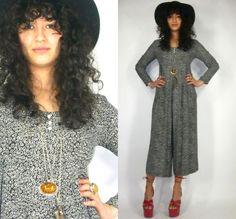 Clothing, Shoes & Accessories Practical Vintage 90s Black Grunge Jumpsuit Halter Vest Boho Festival One Piece Playsuit