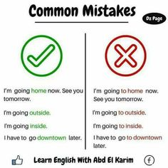 English cmmon mistakes