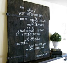 Zephaniah barn door sign