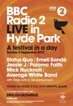 BBC Radio 2 Hyde Park 2012 Festival ~ Emeli Sande @emelisande