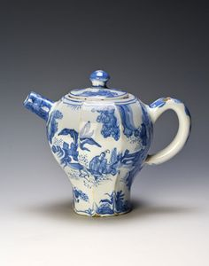 ca 1700 - A Dutch Delft teapot and cover - Burghley Collections